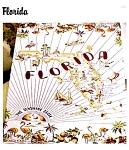 Florida Vintage Patterntablecloth Souvenir