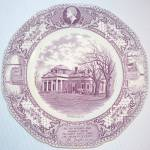Thomas Jefferson Monticello Purple Transferware Plate - Charlottesville Hardware