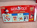 Mickey Mouse 75th Anniversary Monopoly Mint