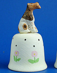 Hand Painted Ceramic Thimble - Fox Terrier