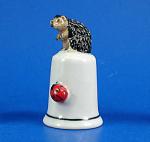 K8341 Hedgehog And Ladybug Thimble