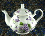 Violets English Bone China Teapot 4 To 6 Cups New Wild Violets