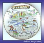 Missouri Souvenir State Plate By Lugene's Japan