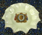 King Edward Viii Coronation Dish Meakin Pale Yellow Ruffled Abdicated