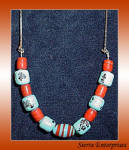 Porcelain Glass Bead Necklace