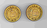 New York City Police Buttons Civil War Copper Five Points Era