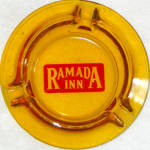Ramada Inn Amber Glass Ashtray