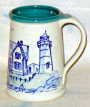 Great Bay Pottery Lighthouse Stoneware Stein