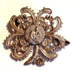 Antique French Nurse Notre Dame Madonna And Child Jesus Pin