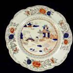 Masons Ironstone Regency Period Plate, Dublin Retailer.