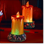 Halloween Spooky Pumpkin Light-up Candles