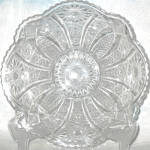 Indiana Panelled Daisy And Finecut Clear Serving Bowl