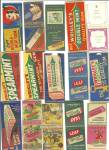 Old Gum Bubble Chewing Gum Matchbook Covers