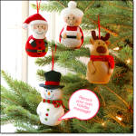 Recordable Character Ornament - Set Of 4