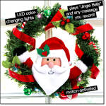 Recordable Light-up Holiday Wreath