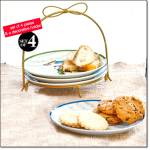 Nutcracker Appetizer Plates And Holder Set