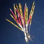Christmas Mercury Glass Bead Spikes Sprays