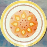 Taylor Smith Taylor Yellow Star Dinner Plate