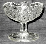 Indiana Double Pinwheel Clear Compote