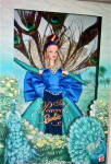 1998 Peacock Barbie Doll New In Box