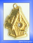 Birdhouse Charms Raw Brass 24 Pc