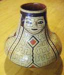 Shipibo Peruvian Effigy Face Pot