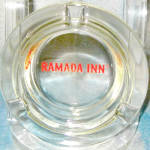Ramada Inn Clear Glass Ashtray