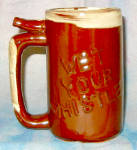 Wet Your Whistle Brown Beer Mug