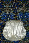 Art Deco Whiting And Davis Silver Mesh Purse Vintage 1940s Marked