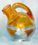 Farber Krome Kraft Amber Cordial Decanter