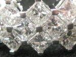 Square Cut Diamond Wedding Band