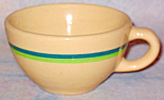 Wallace Green Blue Stripe Cup
