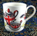 Union Jack Teaset Mug English Bone China Stylized Design British Flags