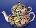 Vintage Chintz Teapot Black Beauty Nelson Stacking