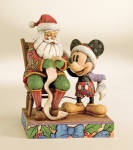 Enesco Disney Traditions Jim Shore Mickey, Checking It Twice Figurine