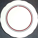 Buffalo China Striped Bread Plate