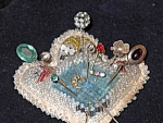1800's Pin Cushion With Hat Pin Collection