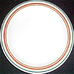 Buffalo Orange / Green Trim Bread Plate