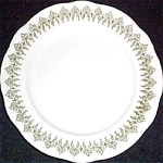Buffalo Green Filigree Dessert Plate