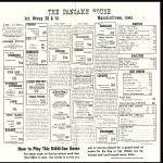 The Pancake House, Vintage Children's Menu, Marshalltown Ia, 1958
