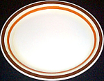 Buffalo Brown Orange Stripe Platter