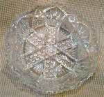 Antique Nucut Pressed Glass Bowl.