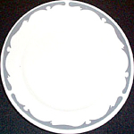 Buffalo Crest Gray Bread Plate