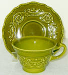 Canonsburg Regency Green Cup And Saucer