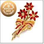 Avon 2013 Collectible Poinsettia Pin