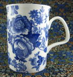 Blue Victorian Mug Roy Kirkham Henley Collection Bone China