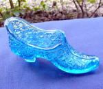 Sapphire Blue Duncan Glass Shoe