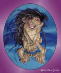 Laughing Lady Troll Polystone Figurine