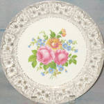 Cronin Floral Filigree Luncheon Plate