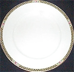 Crooksville Rose Band Luncheon Plate